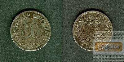 DEUTSCHES REICH 10 Pfennig 1901 G  ss+