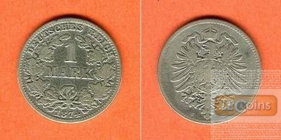 Deutsches Reich 1 Mark 1874 C (J.9)  s-ss/s+