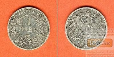 Deutsches Reich 1 Mark 1901 J ss