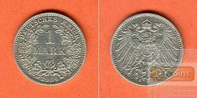 Deutsches Reich 1 Mark 1904 E  vz/f.vz