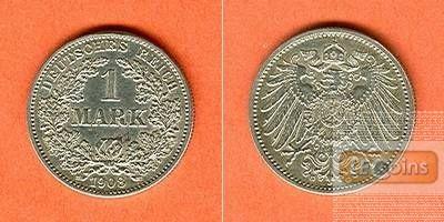 Deutsches Reich 1 Mark 1908 G (J.17)  vz+
