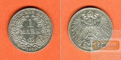 Deutsches Reich 1 Mark 1910 E (J.17)  vz