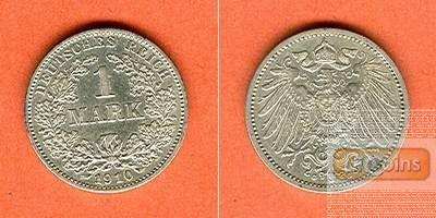 Deutsches Reich 1 Mark 1910 G (J.17)  ss-vz