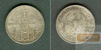 DEUTSCHES REICH 2 Reichsmark 1934 E (J.355)  ss-vz