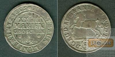 Braunschweig Wolfenbüttel 24 Mariengroschen 1695 HCH  ss