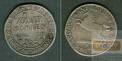 Braunschweig Wolfenbüttel 24 Mariengroschen 1698 HCH  ss