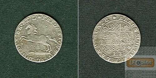 Braunschweig 1/24 Taler (Groschen) 1814 FR  ss-