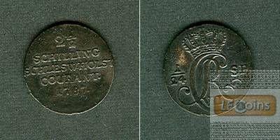 Schleswig Holstein 2 1/2 Schilling (1/24 T.) 1787  ss/ss+  selten