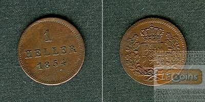 Bayern 1 Heller 1854  vz+