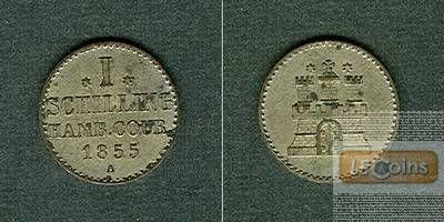 Hamburg 1 Schilling 1855 A vz+
