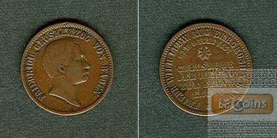 Baden 1 Gedenkkreuzer 1857  ss+  selten!
