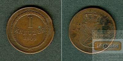 Baden 1 Kreuzer 1809  ss  selten