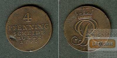 Braunschweig Calenberg Hannover 4 Pfenning 1796 PLM  ss