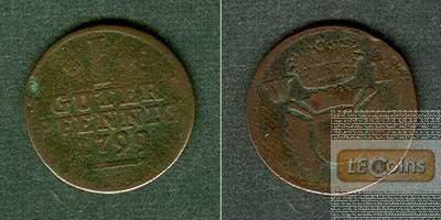 Schaumburg Rinteln 1 Guter Pfennig 1799  s-ss