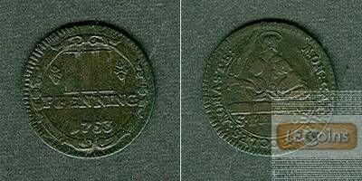 Münster Domkapitel 3 Pfennige 1753  ss