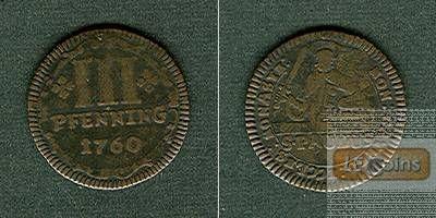 Münster Domkapitel 3 Pfennige 1760  ss-