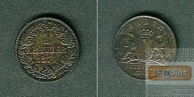 Baden 1 Kreuzer 1871  f.st/st  selten