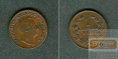 Baden 1 Kreuzer 1849  ss+/vz