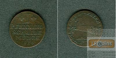 Braunschweig 1 Pfenning 1814 MC  f.ss/s-ss