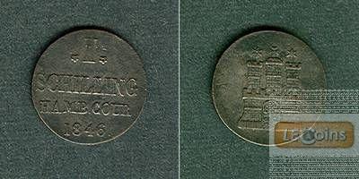 Hamburg 1 Schilling 1846  vz-