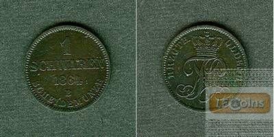Oldenburg 1 Schwaren 1864 B  f.vz