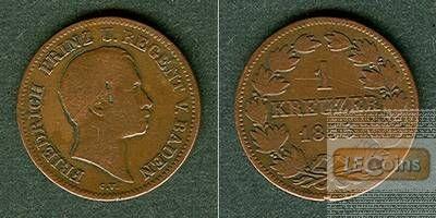 Baden 1 Kreuzer 1856 PRINZREGENT ss-  selten!