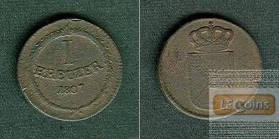 Baden 1 Kreuzer 1807  f.ss
