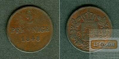 Bayern 2 Pfennige 1848  f.ss