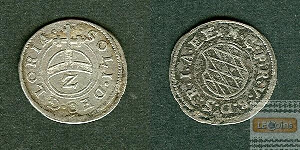 Bayern 2 Kreuzer (1/2 Batzen) o.J. (1598-1651)  vz-