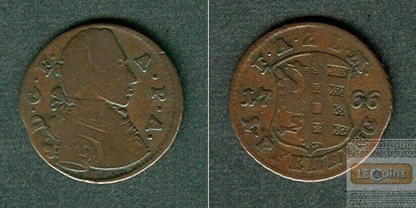 Anhalt Zerbst 1 Pfennig 1766  ss-/ss