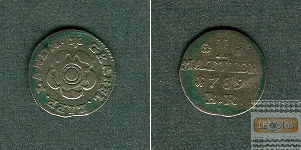 Lippe Detmold 1 Mattier 1789  ss  selten