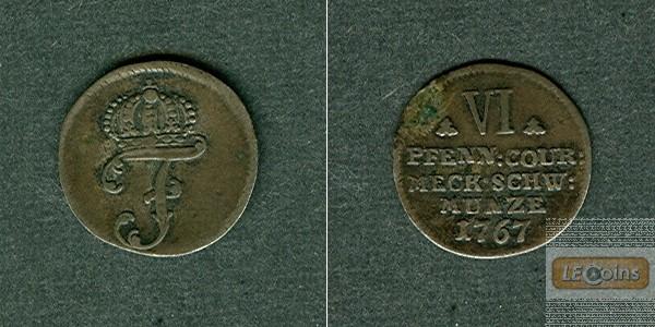 Mecklenburg Schwerin 6 Pfennige 1767  ss+