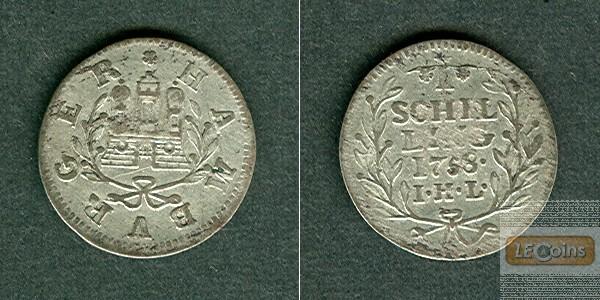 Hamburg 1 Schilling 1758  ss-vz