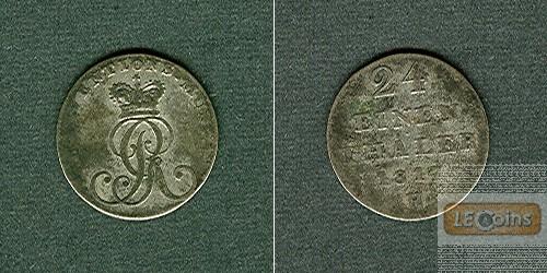 Hannover 1/24 Taler (Groschen) 1817 H  f.ss  selten