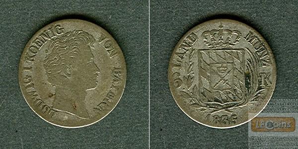 Bayern 6 Kreuzer 1835  f.ss