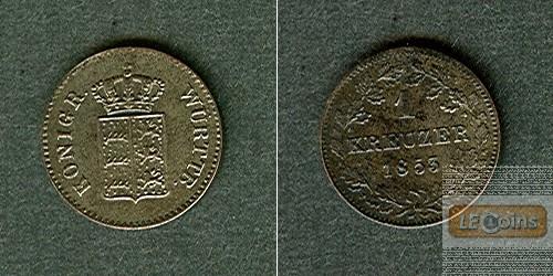 Württemberg 1 Kreuzer 1853  vz-stgl.