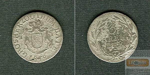 Baden 3 Kreuzer 1818  s-ss