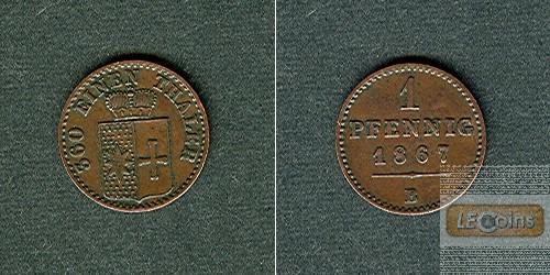 Waldeck Pyrmont 1 Pfennig 1867 B  ss-vz