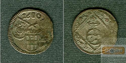 Deutscher Orden Dreier (1/84 Gulden) 1680  ss  selten!