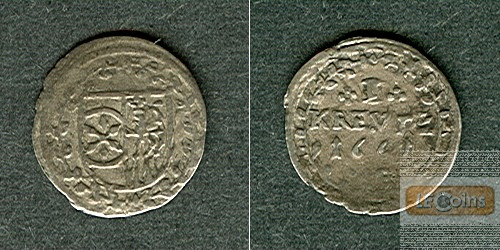 Mainz Erzbistum 1 Kreuzer 1661  ss