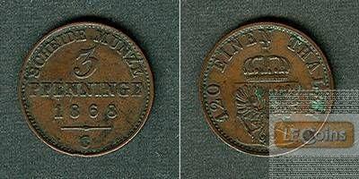 Preussen 3 Pfennige 1868 C  ss-vz