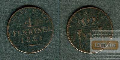 Preussen 4 Pfennige 1821 A  s