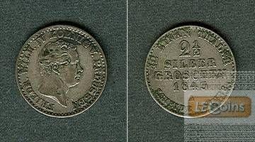 Preussen 2 1/2 Silber Groschen 1843 A  ss+