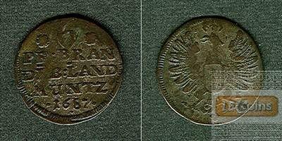 Brandenburg Preussen 6 Pfennige 1687  ss
