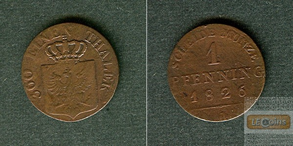 Preussen 1 Pfenning 1826 A  f.ss
