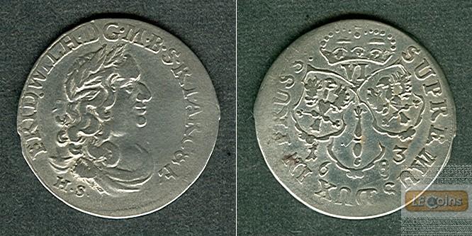 Brandenburg Preussen 6 Gröscher 1683 HS  ss-vz