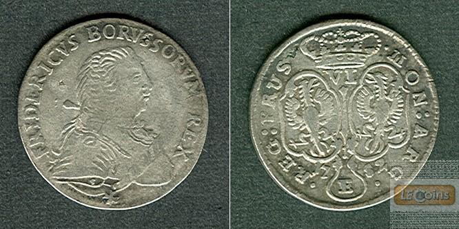 Preussen 6 Gröscher 1752 E  ss+  selten