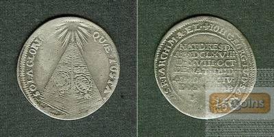 Sachsen 1/24 Taler (Groschen) 1694  AUF DEN TOD  s-ss