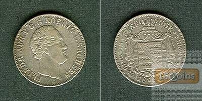 Sachsen 1/6 Taler 1847 F  ss-vz/f.vz