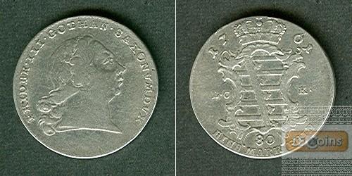 Sachsen Gotha und Altenburg 1/6 Taler 1761 ICK  ss/ss-vz  RAR!